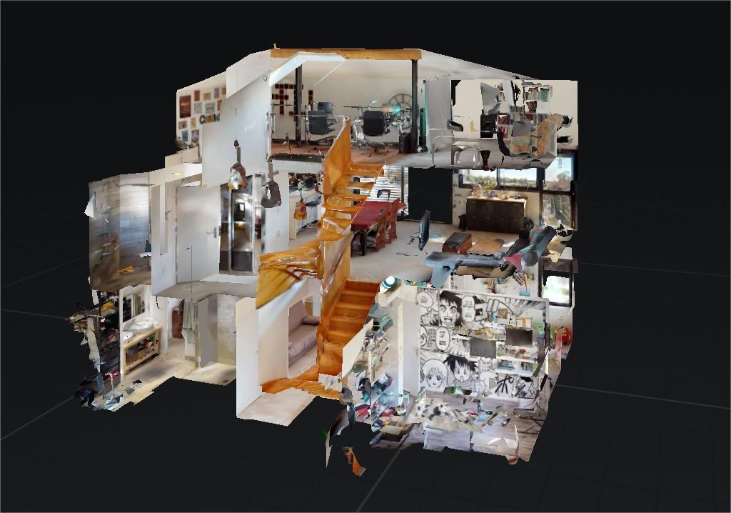 Maison de poupée visite virtuelle Matterport