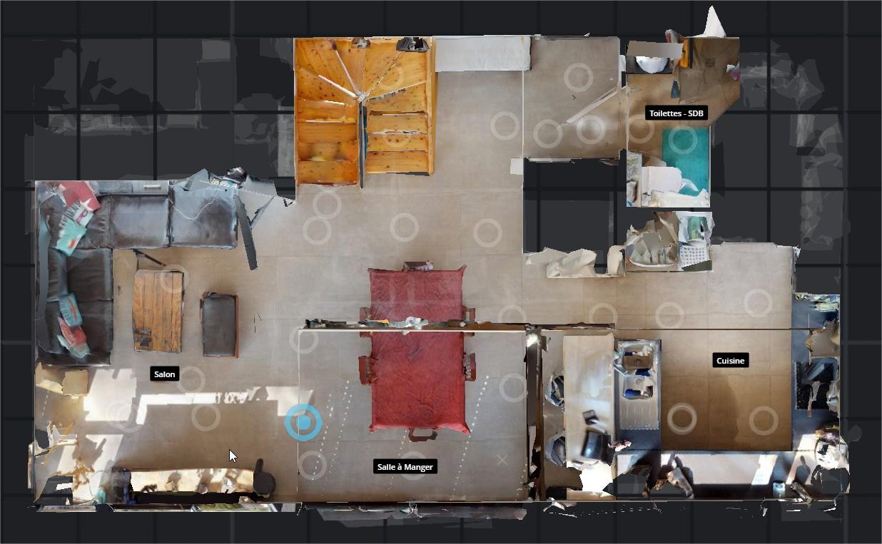 Plan d'étage visite virtuelle Matterport